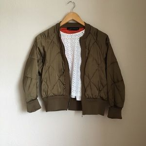 364950e45 Zara Jackets & Coats - SOLD on depop zara quilted bomber jacket in olive